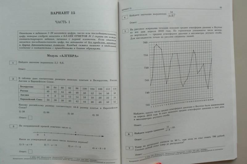 решение 2019 огэ гдз по математика тетради ященко