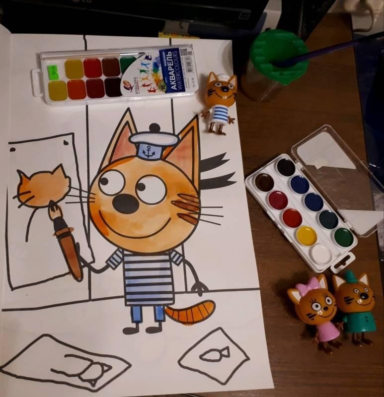 """Книга: """"Maxi-раскраска """"Три кота"""""""". Купить книгу, читать ..."""