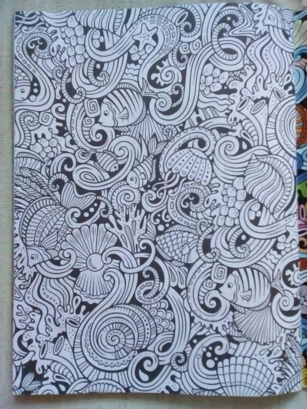 Иллюстрация 19 из 26 для Море спокойствия. Раскраска для ...