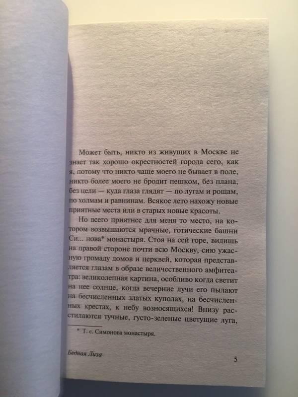 Небольшая рецензия на книгу бедная лиза 5846