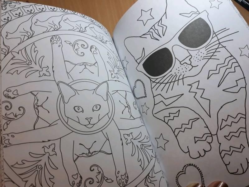 Иллюстрация 75 из 84 для Кототерапия. Мини-раскраска-антистресс для творчества | Лабиринт - книги. Источник: Наталия