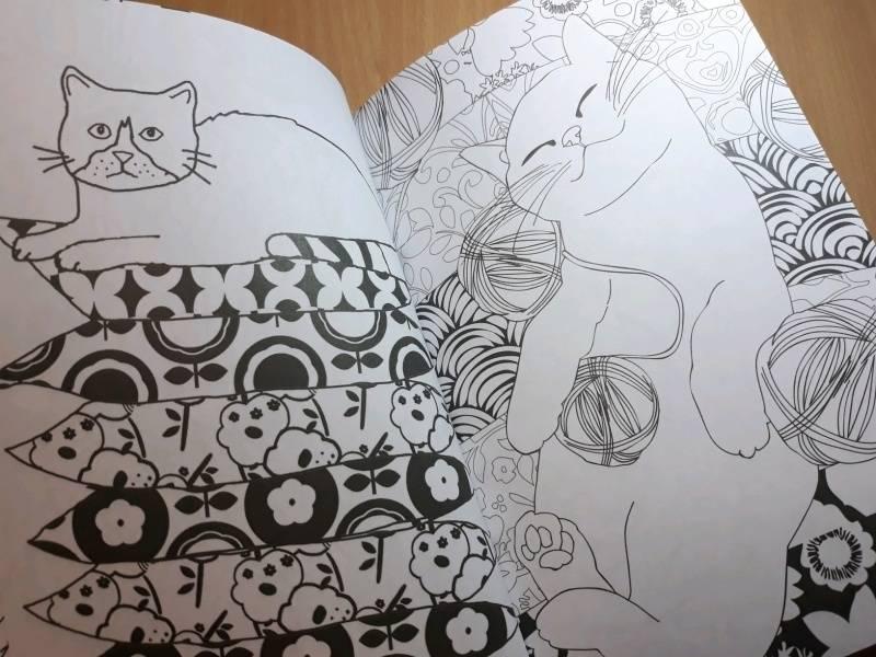 Иллюстрация 64 из 84 для Кототерапия. Мини-раскраска-антистресс для творчества | Лабиринт - книги. Источник: Наталия