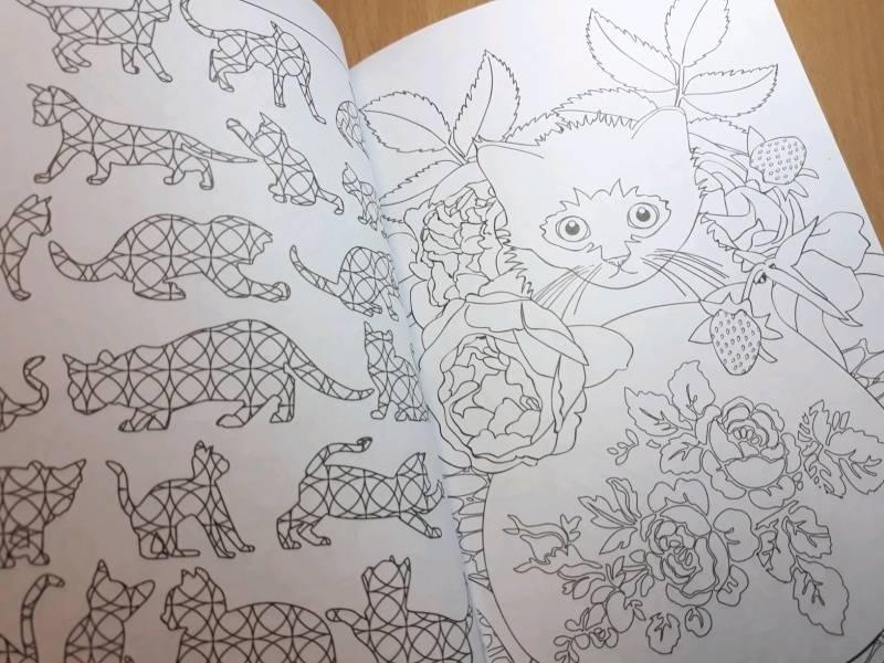 Иллюстрация 66 из 84 для Кототерапия. Мини-раскраска-антистресс для творчества | Лабиринт - книги. Источник: Наталия