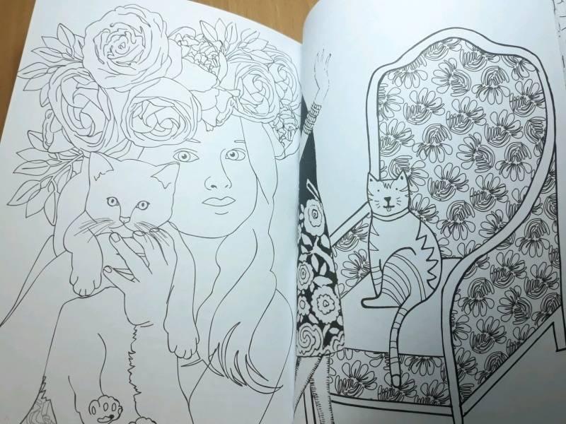 Иллюстрация 71 из 84 для Кототерапия. Мини-раскраска-антистресс для творчества | Лабиринт - книги. Источник: Наталия