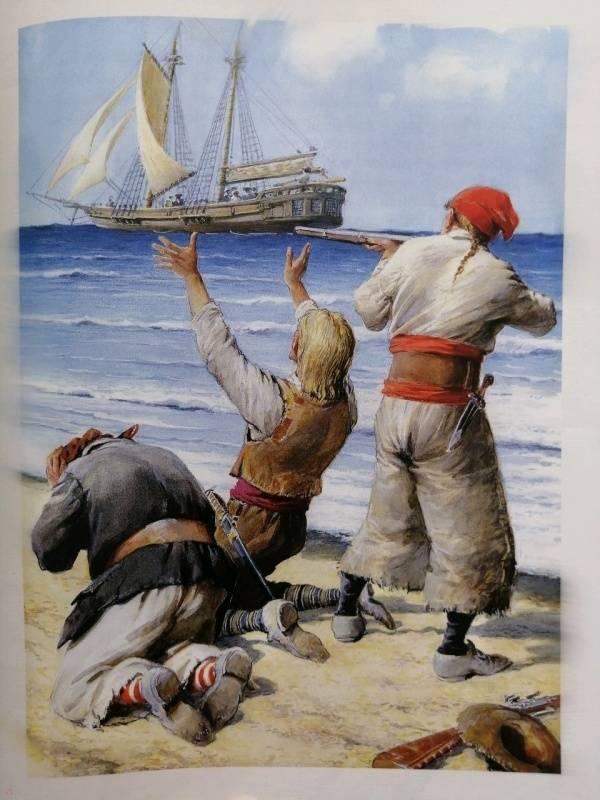 Иллюстрация 97 из 106 для Остров сокровищ - Роберт Стивенсон | Лабиринт - книги. Источник: Ш  Елена