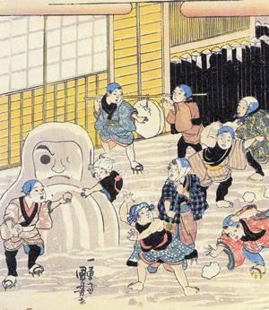 В японии снеговик выглядит не так как