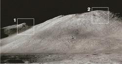 Горы, якобы сфотографированные на Луне
