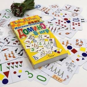 «Математическое домино» и другие развивающие карточки для дошкольников