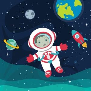 Космос глазами детей. Раскраски, плакаты, энциклопедии