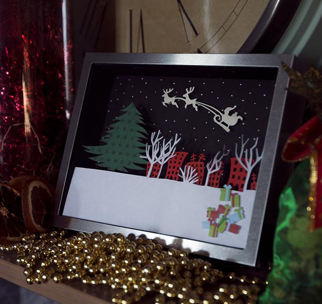 """Волшебное рождество. Мастер-класс из книги """"Картины из бумаги"""""""