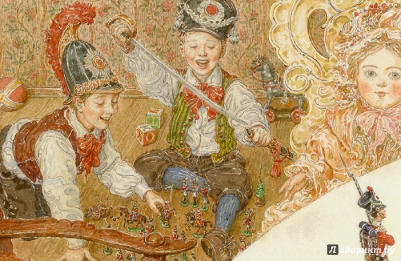 Иллюстрации А. Ломаева к сказке Стойкий оловянный солдатик