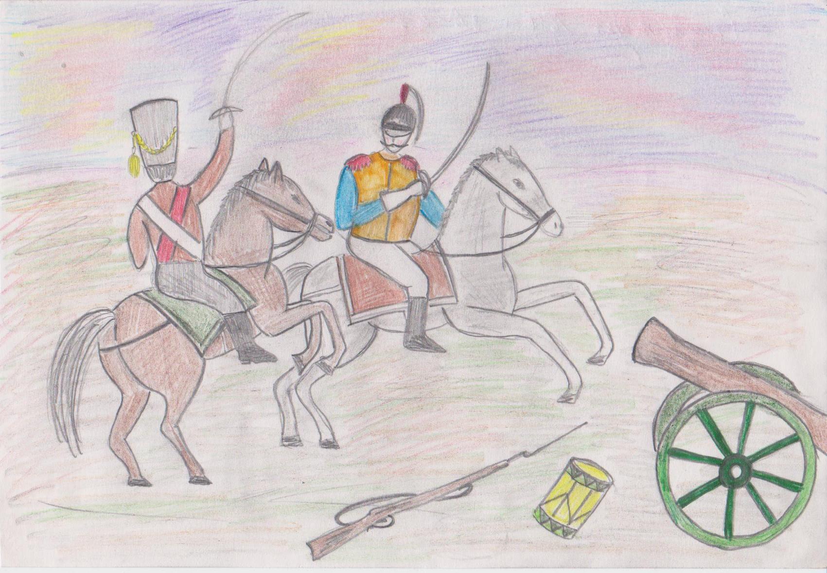 Куликовская битва рисунок для детей