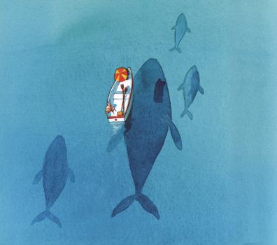 Иллюстрация Оливера Джефферса к книге «Потерять и найти»