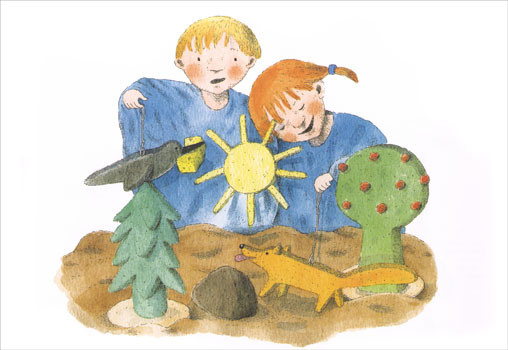 Иллюстрация Кристины Лоухи к книге Майи Брик «Кукольный театр»