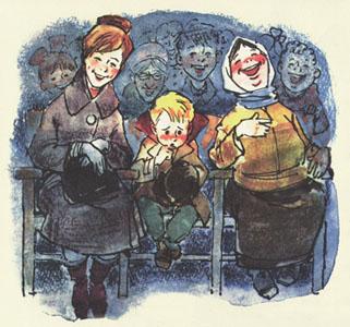 Иллюстрация Петра Репкна к книге Иосифа Ольшанского «Невезучка»