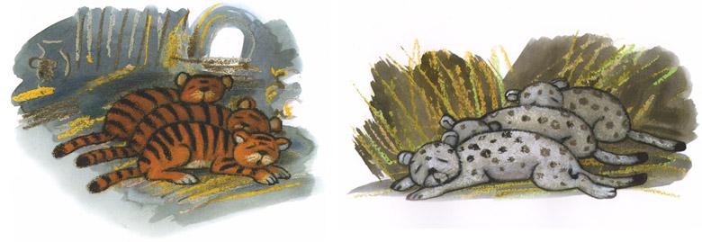 Иллюстрации Марии Покровской к сказке Рахиль Баумволь «Как медведица искала своих медвежат»