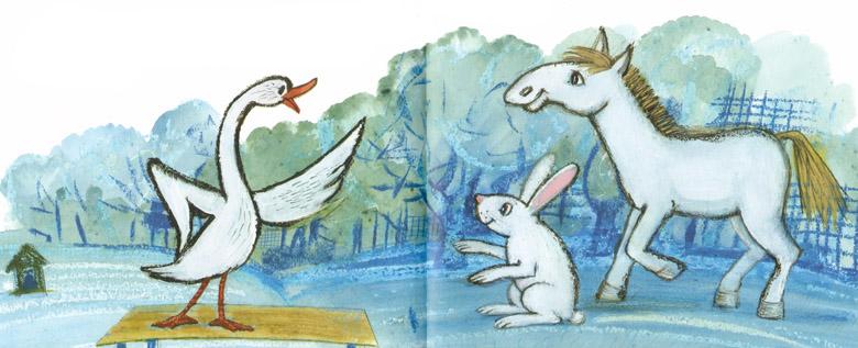 Иллюстрации Мария Покровской к сказке Рахиль Баумволь «Друг в кошёлке»