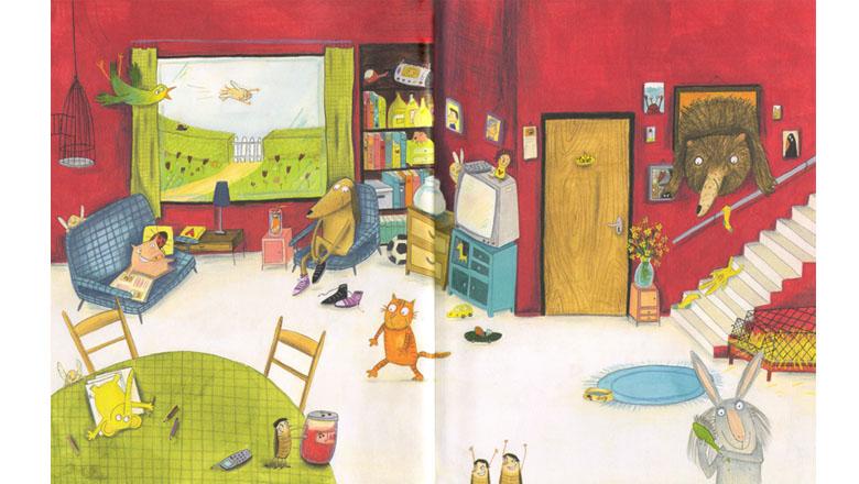Иллюстрация Лус Рифаген к книге «Одни дома»