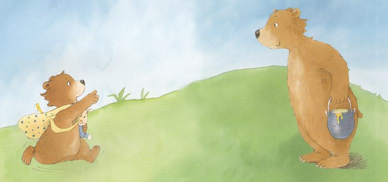 Иллюстрация Жинетт Хоффман к книге Рене Гуишу «Самый лучший папа»