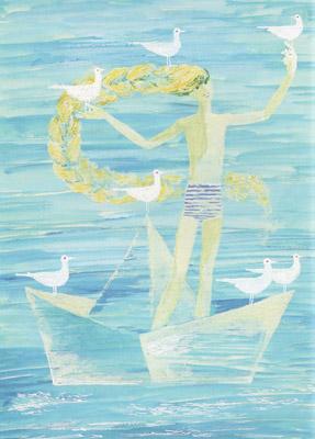 2 Иллюстрация Геннадия Епишина к книге Галины Демыкиной «Цветные стеклышки»
