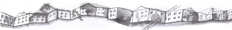 5 Иллюстрация Анны Романовой к книге Сергея Вольфа «Дом в сто этажей»