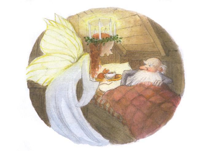 1 Иллюстрация Эвы Эриксон к книге Ульфа Старка «Рождество в лесу»