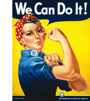 Плакат Дж Говарда Миллера «We can do it!»