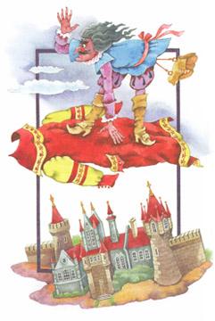 Иллюстрация Валентина Родионова к книге Отфрида Пройслера «Разбойник Хотценплотц»