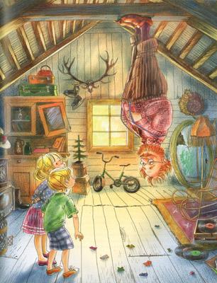 Иллюстрация Марины Пузыренко из книге «Шоколадный дедушка›