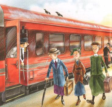 2 Иллюстрация Марины Пузыренко из книге «Шоколадный дедушка›
