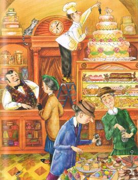 3 Иллюстрация Марины Пузыренко из книге «Шоколадный дедушка›