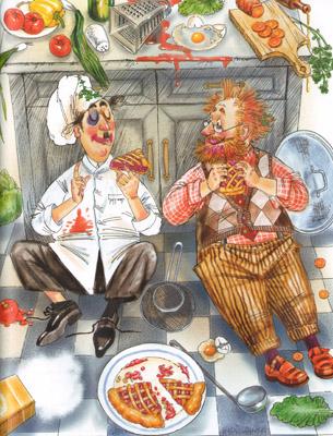 5 Иллюстрация Марины Пузыренко из книге «Шоколадный дедушка›