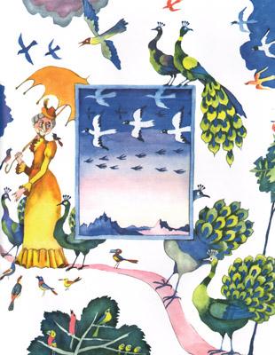 Иллюстрация Виктори Пивоварова к книге «Старушки с зонтиками»