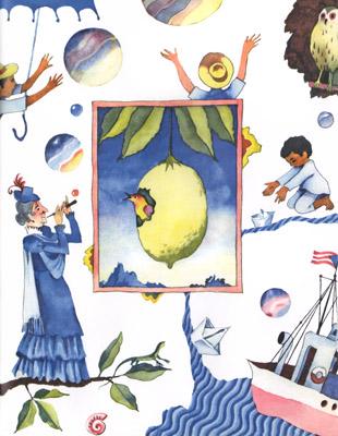 1 Иллюстрация Виктори Пивоварова к книге «Старушки с зонтиками»