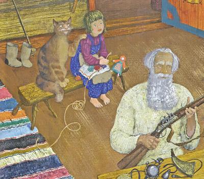 Иллюстрация Михаила Бычкова к книге Павла Бажова «Серебряное копытце»