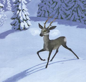 1 Иллюстрация Михаила Бычкова к книге Павла Бажова «Серебряное копытце»
