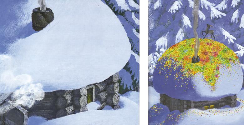 3 Иллюстрация Михаила Бычкова к книге Павла Бажова «Серебряное копытце»