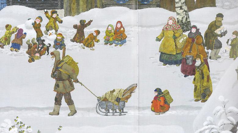 4 Иллюстрация Михаила Бычкова к книге Павла Бажова «Серебряное копытце»