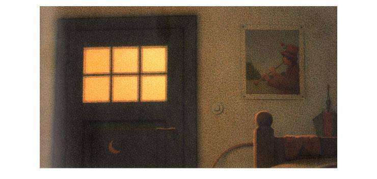 Иллюстрация Кинта Буххольца к книге «Сладких снов, маленький медвежонок»