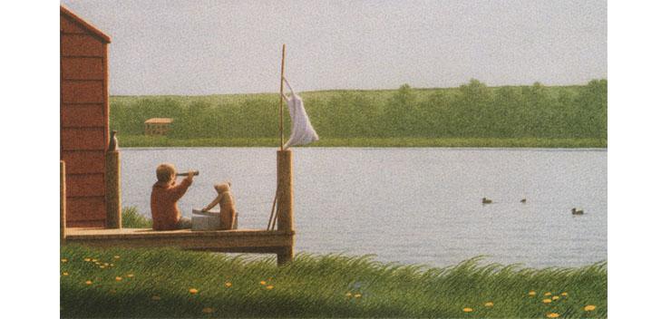 4 Иллюстрация Кинта Буххольца к книге «Сладких снов, маленький медвежонок»