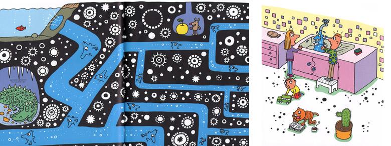 Иллюстрации Агостино Траини к книге «Необыкновенное путешествие синьора Капельки»