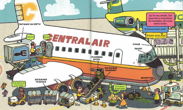 Иллюстрация Брайана Биггза к книге «Все что летает по воздуху»