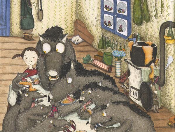 1 Иллюстрация Кристины Андрес к книге «Как приручить волков»