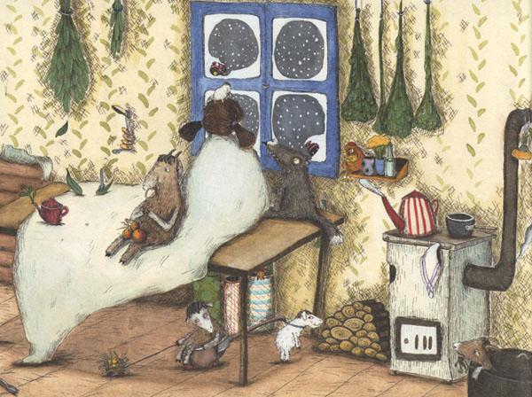 2 Иллюстрация Кристины Андрес к книге «Как приручить волков»