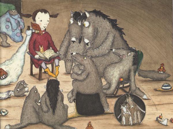 Иллюстрация Кристины Андрес к книге «Как приручить волков»