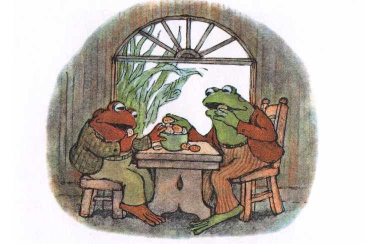 Иллюстрация Арнольда Лобела к книге «Квак и Жаб снова вместе»