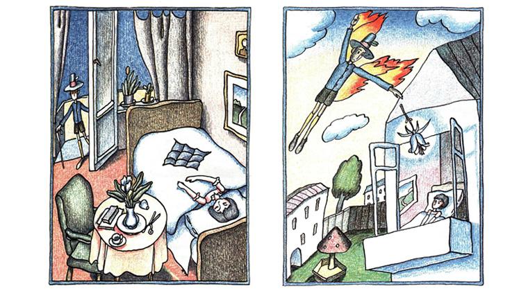 2 Иллюстрации Виктора Пивоварова к книге Константина Сергиенко «Картонное сердце»