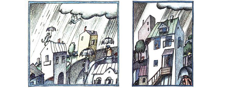 3 Иллюстрации Виктора Пивоварова к книге Константина Сергиенко «Картонное сердце»