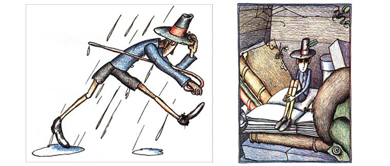 Иллюстрации Виктора Пивоварова к книге Константина Сергиенко «Картонное сердце»