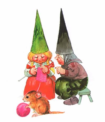 Иллюстрация Рина Поортфлита к книге Вила Хёйгена «Энциклопедия гномов»